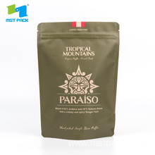 Kraft Paper Stand Up Coffee Bag With Printing