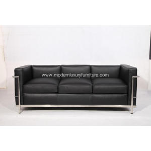 10 Years manufacturer for Supply Leather Sofa,Modern Leather Sofa,Pu Leather Sofa,Adjustable Leather Sofa to Your Requirements Full Grain Leather Le Corbusier LC2 Sofa Replica export to South Korea Exporter