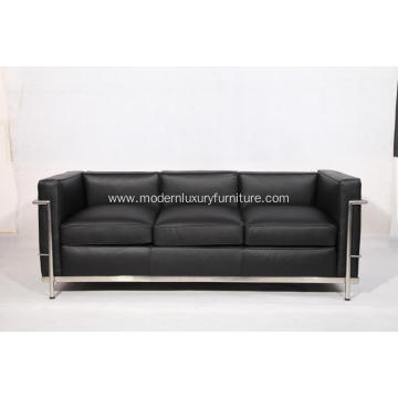 Best Quality for Leather Sofa Full Grain Leather Le Corbusier LC2 Sofa Replica supply to Indonesia Exporter
