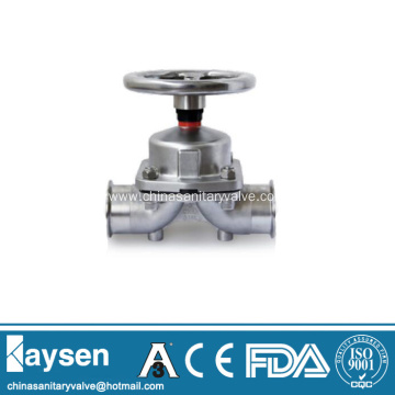 Sanitary diaphragm valves SS handwheel clamp end