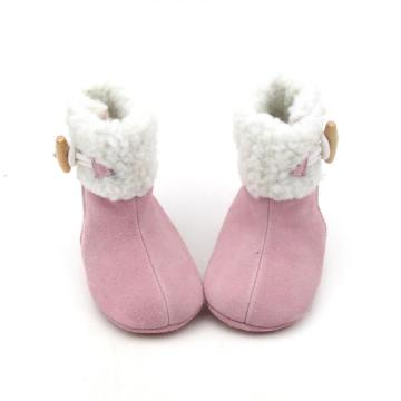Winter Pink Baby Girl Boots Newborn First Walker
