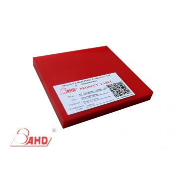 Reliable for Offer Pu Sheet,Cast Pu Sheet,Red Polyurethane Sheet From China Manufacturer 95A Red Color  PU Rubber Sheets export to Palestine Exporter