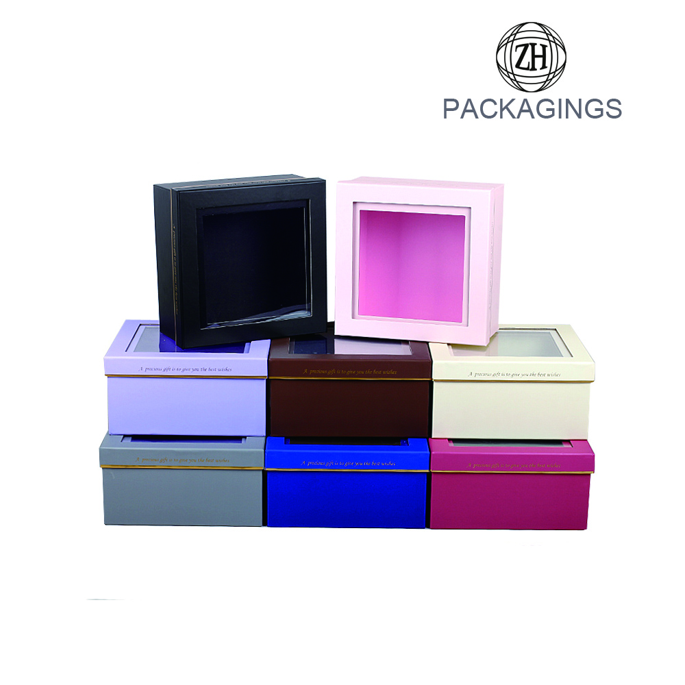 New design clear window flower packaging box