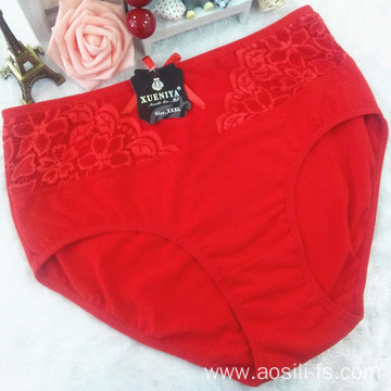 the hottest sale mesh lace China new cotton sexy plus size red panty 3xl 5835