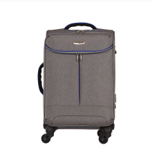 Printed polyester fabric spinner trolley soft luggage