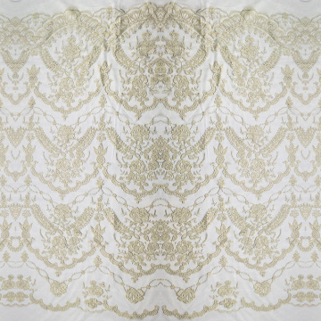 Golden Thread Lace Embroidery Fabric
