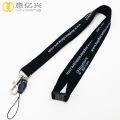 Custom 2018 black blank logo printed promo lanyards