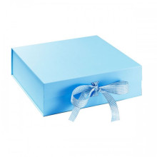 Printed Magnetic Closure Box With Ribbon Tied