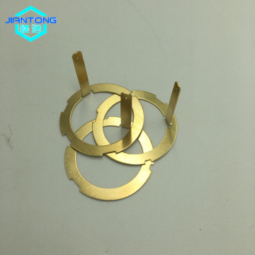 Custom gold plated copper electrical contact spring