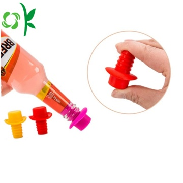 Personalized Silicone Screw Cap Bottle Stopper for Bar
