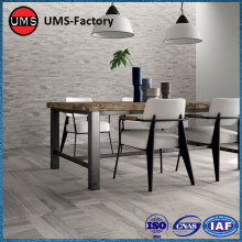 Light grey wood effect tiles kitchen