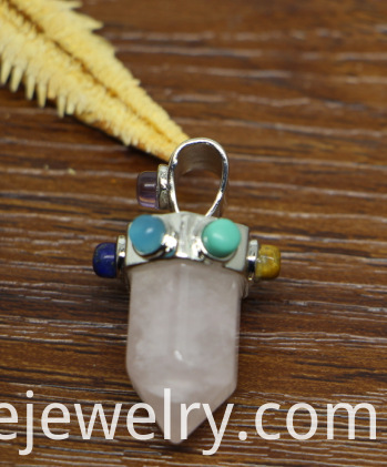Natural Hexagonal Prism Stone Pendant