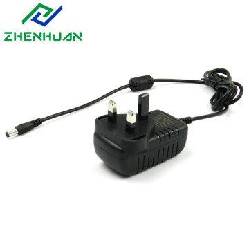 12V1A 12W UK Reisestecker Wandadapter