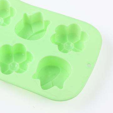 Green Flower Silicone Cake Mold