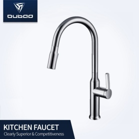 Grand Brushed Nickel Pulldown Spray Mono Sink Faucet