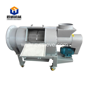 Large capacity centrifugal sifter for pellet