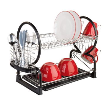 2 Tier Dish Rack With Drip Tray