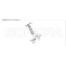 REAR SHOCK ABSORBER ASSY For LONGJIA LJ125T 8M Spare Part Top Quality