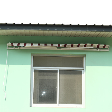 Retractable arms awning 1.8*1.2 Red and White