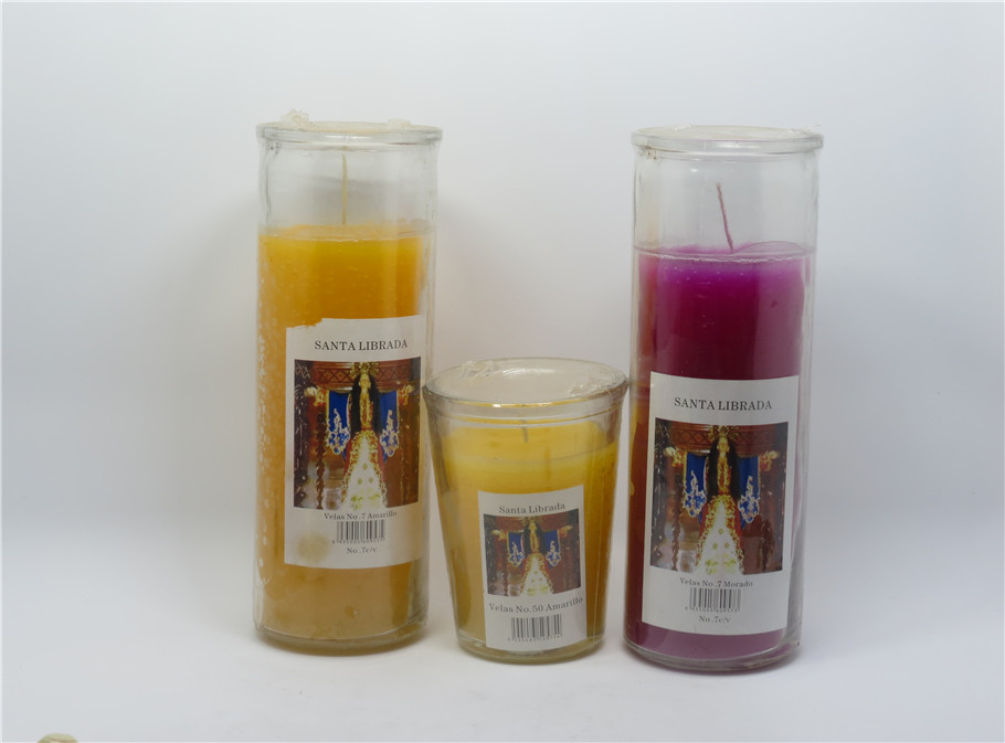7 days candle Religious candles glass jar