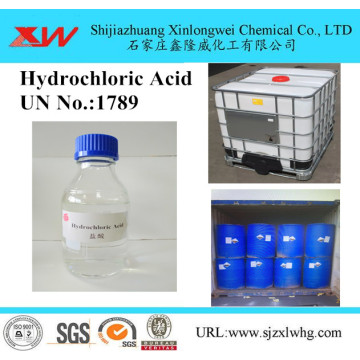 Hydrochloric Acid on Water