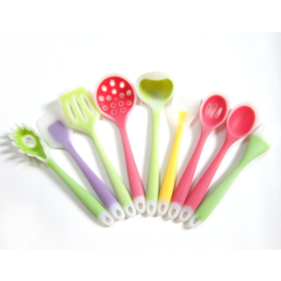 9PCS Heat Resistant Silicone Cooking Utensil Set