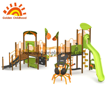 Funny outdoor playground climbing frames for children