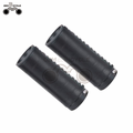 Comfortable bicycle lock on grip leather Lock Available Bicycle Handlebar Grips