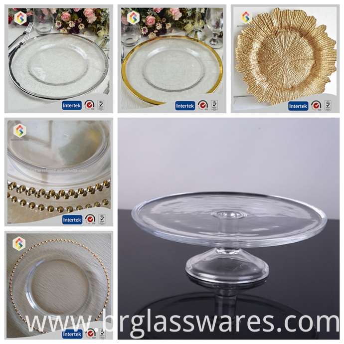 glass charger plate
