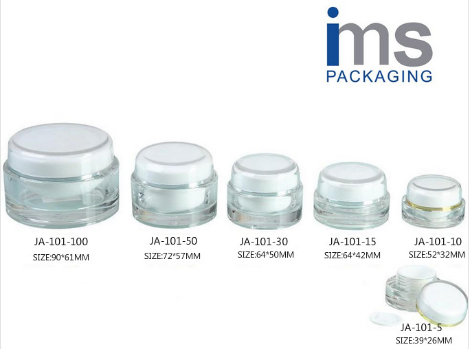 Acrylic Cosmetic Jars JA-101,cream jars