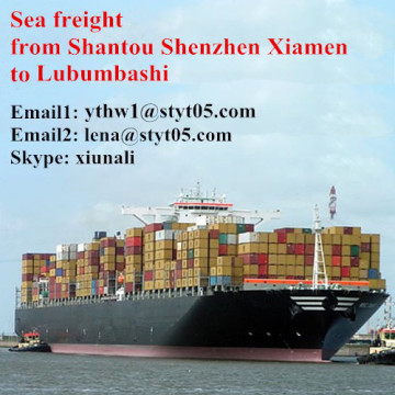 Shantou Sea freight shipping container to Lubumbashi