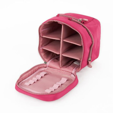 Portable Makeup Carrying Cosmetic Bag Case with Mirror