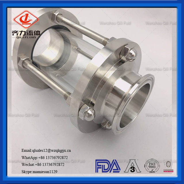 Sanitary Stainless Steel Tri-Clamp Sight Glass with Ferrule