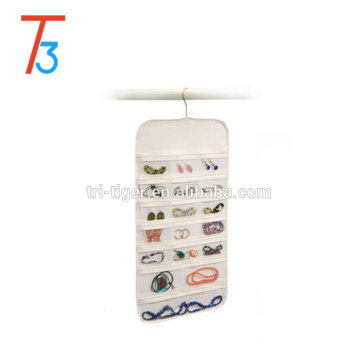 37 pockets Modern plastic foldable hanging jewelry organizer