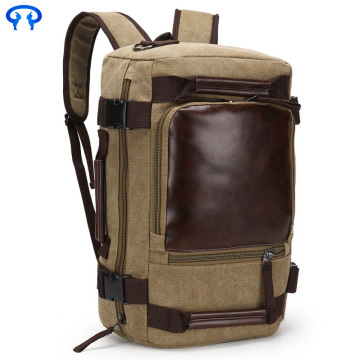 Men's Casual Vintage Canvas Leather Backpack