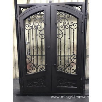 Home Double Entrance Steel Door Wrought Iron Door