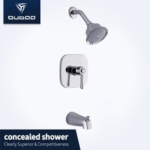 European Wall Mount Chrome Bath Shower Faucet Mixer