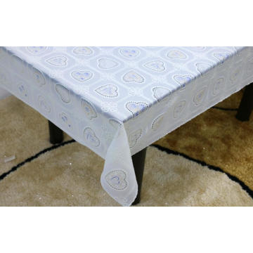 Printed pvc lace tablecloth by roll fall