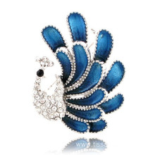 Big Size Fashion Accessories peacock Rhinestone Brooch Pin