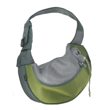 Olive Large PVC and Mesh Pet Sling