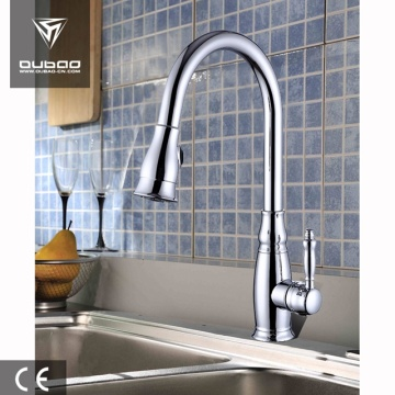 Elegant Deck Mount Gooseneck Kitchen Sink Mixer Tap