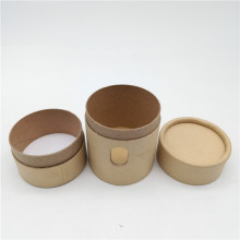 Brown Kraft Cylinder Tube Box with Two Holders