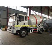 Dayun 3000L Small Cement Mixer Trucks