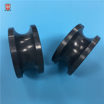 insulating textile Si3N4 polished ceramic roller guide