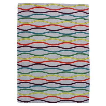 Hand Tufted Carpet With Abstract Design