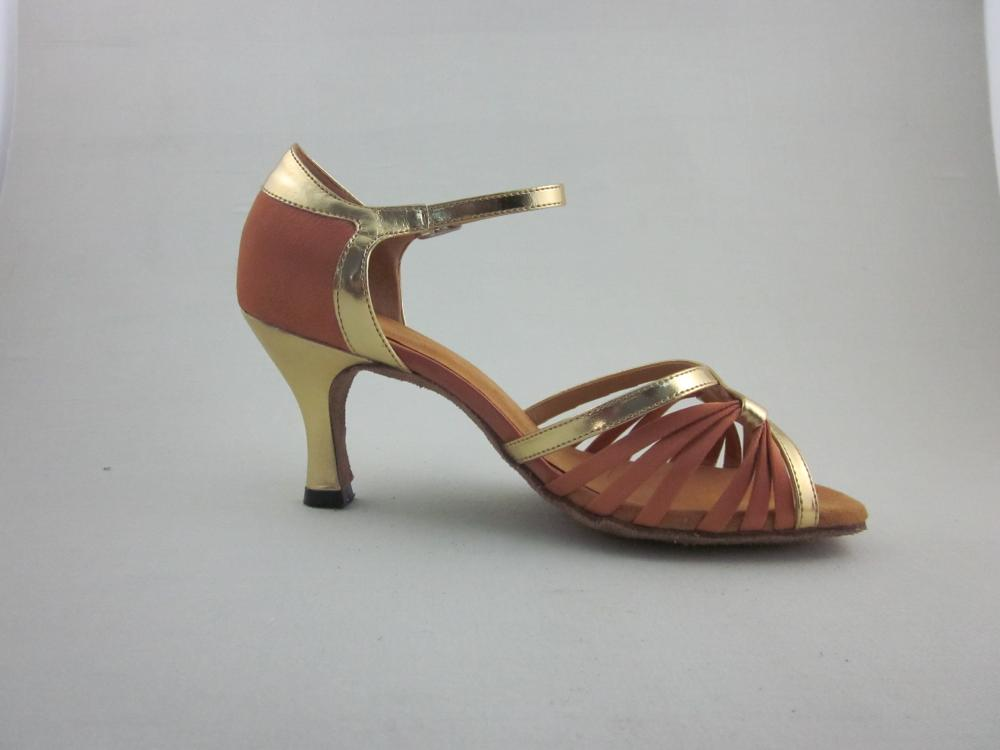 2 5 Inch Heel Flesh Satin Latin Shoes