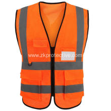 Orange 100% Polyester Safety reflective cloth