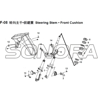 F-08 Steering Stem Front Cushion XS150T-8 CROX For SYM Spare Part Top Quality