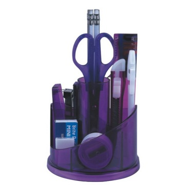 Purple Plastic Desk Organizer