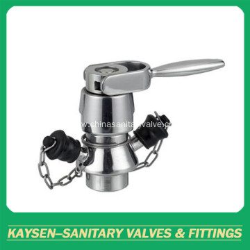 Sanitary food processing aseptic sampling valve